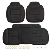 3pcs PU Leather Car Front Rear Seat Covers Universal Seat Protector Seat Cushion Pad Mat