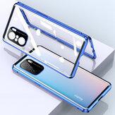 Bakeey for POCO F3 Global Version Caso 2 em 1 com Lens Protector Magnetic Flip Dupla Face Vidro Temperado Metal Tampa Completa Protetora Caso