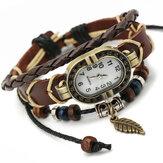 Deffrun Unique Diseño Reloj de pulsera estilo retro para mujer
