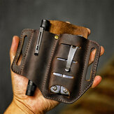 Men Genuine Leather Wing Leather Holster Belt Bag Military Tactical Bag
