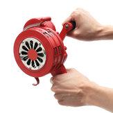 Ręczny głośny ręczny korbowy Ręczny alarm przeciwlotniczy Przenośna syrena czerwona