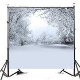 10x10ft الشتاء الثلج الثلج شجرة التصوير الفينيل خلفية الاستوديو