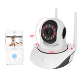 WIFI Nirkabel HD 1080P Smart IP Camera Night Vision Motion Mendeteksi 360 ° PTZ Two Way Talk