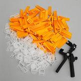 201Pcs 2mm Tile Leveling Spacers System Set 100 Clips   100 Wedges   Plier Tiling Spacer