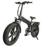[US DIRECT] محرك ENGWE PRO 750 واط 12.8 أمبير 48 فولت 20 * 4 بوصة دراجة كهربائية قابلة للطي ذات الإطارات الدهنية 45 كم / ساعة بأقصى سرعة City Mountain E BIKE