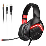 SOMIC GS301 Game Headset 7.1 Channel USB 3.5mm Bass Stereo Wired Gamer Earphone Microphone Headphones with LED Light