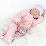 Bebê Reborn 22polegadas Bebê Renascido Boneca Silicone Reborn Baby handmade lifelike