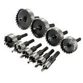 10pcs 12/16/18/20/25/30/35/40/45/50mm HSS Hole Saw Cutter Set 12-50mm Metal Wood Alloy Drill Bit