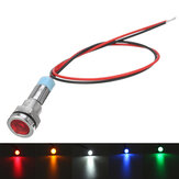 12V 6mm LED Luz indicadora Pilot Dash Lamp Motorccyle Car Truck Boat Metal