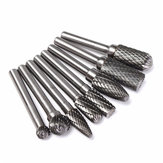 8pcs 6mm Shank Acciaio al tungsteno Rotary Burr Set Rotary Cutter Files Utensile per incisione CNC