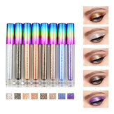 8 barev Colorful Shimmer Glitter Liquid Eye Shadow
