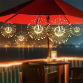 ARILUX® Solar Potencia 200LED 8 modos IP65 DIY Fuegos artificiales Starburst Fairy String Navidad Holiday Light