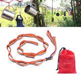 TiendaColorfulTiendadecuerdacolgante Cuerda Cord para al aire libre cámping Accesorios de jardín de senderismo