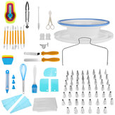 118 PCS Cake Decorating Tools Set DIY Cake Piping Tips Turntable Rotating Cake Stand Pastry Nozzle Baking Tools