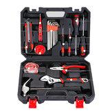 20 Pcs Repair Hand Tool Set Home Kit Doméstico com Chave De Fenda chave Hammer Tape Fio Cortador & Caixa