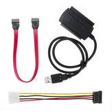 Câble de convertisseur d'adaptateur SATA / PATA / IDE vers USB 2.0 pour disque dur 2.5