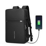 MARK RYDEN MR8057 Ransel Anti-pencurian yang Diperluas Fit 17 inch pria Bisnis Ransel Tahan Air Kapasitas Besar Tas Laptop Travel