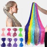 Halloween Crochet Caixa Tranças Cabelo Pacotes Tranças Coloridas Sujas Rabo de Cavalo Sintético Extensões Cabelo