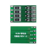 3pcs 4S 16.8V BMS PCB 18650 Lithium Battery Charger Protection Board Balancing Board Balanced Current 100mA