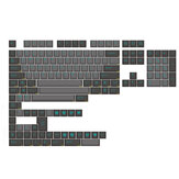 KBDfans Epbt 153 Keys Black and Gray Green word Keycaps Cherry Profile Sublimation ABS Two Color Mechanical Keyboard Keycap for 60% 65% 75% 80% 100% HHKB ISO Layout Mechanical Keyboard