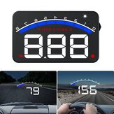 3.5'' Car HUD Head Up Display OBD2 Speed RPM Water Temperature Mutiple Alarm Clear Fault Code