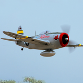Dynam P-47D Thunderbolt V2 1220mm Wingspan EPO RC Airplane Warbird PNP With Upgraded Power System