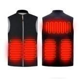45-55℃ Electric Heated Vest USB Infrared Heating Jacket Winter Outdoor Thermal Clothing Waistcoat Warmer