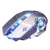 YINDIAO A4 2.4G Ασύρματο ποντίκι τυχερού παιχνιδιού Επαναφορτιζόμενο αθόρυβο 1600DPI Εργονομικό ποντίκι για οικιακή χρήση για φορητό υπολογιστή