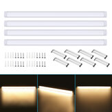 4Pcs 120cm AC85-265V LED Lumières à montage en surface 2835SMD LED Batten Linear Tube Light pour Office Supermarket Home