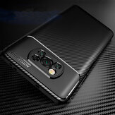 Bakeey for POCO X3 NFC Case Luxury Carbon Fiber Pattern with Lens Protector Shockproof Silicone Protective Case Non-original
