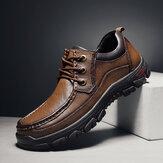 Mænd kohud Åndbar komfortable afslappet forretnings loafers