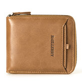 Baellerry Men Vintage PU Cuir Court Zipper Card Holder Portefeuille Pour Hommes