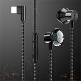 F13Tipo-cfonedeouvidocom fio de alta fidelidade de metal baixo esporte fone de ouvido fone de ouvido música gaming fone de ouvido com microfone para oneplus xiaomi Huawei