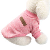 Dog Clothes Warm Puppy Outfit Pet Jacket Coat Zimowe ubrania dla psów Soft Sweter Clothing