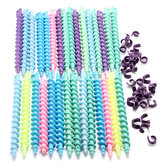 25Pcs Styling Plastic Hairdressing Spiral Hair Perm Rod