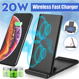 Bakeey 20W Qi Wireless Fast Charger Charging Dock Station for iPhone 8 X 11 12 Series for Samsung Galaxy Note S20 ultra Huawei Mate40 OnePlus 8 Pro