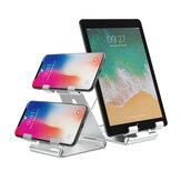 Bakeey Soporte universal plegable de doble capa para teléfono / tableta Soporte de escritorio de aleación de aluminio creativo de múltiples ángulos para POCO F3 X3 NFC