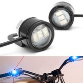 2pcs LED Eagle Eye Lamp Strobe Flash DRL Bicycle Motorcycle Car ATV Light