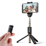 BlitzWolf BW-BS3 Çok yönlü 3'ü 1 Bluetooth Tripod Selfie Stick'ler için iphone 8 8 Plus iphone X
