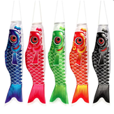 70CM Koi Nobori Carp Flag Wind Sock Koinobori Fish Kite Flag Висячий декор