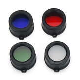Astrolux® WP1 LEP Flashlight Filter 34mm Diameter PMMA Colorful Diffuser Light Cover Blue Red Green White Hunting Flashlight Accessories