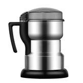 Molinillo de café eléctrico Trituradora de polvo de molienda de granos de alimentos de grano inoxidable 400W