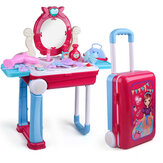 Children's Play Toys Trolley Box Toy Set Beauty Dress Up Tableware Games Kids Gift