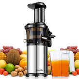 Biolomix BJ200 200W 40RPM Stainless Steel Masticating Slow Auger Juicer Machine Fruit and Vegetable Squeezer Press Juice Maker