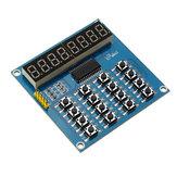 TM1638 3-проводный 16 ключей 8 бит Клавиатура Кнопки Дисплей Цифровой модуль Трубка Сканирование платы и ключ LED