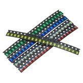 300 piezas 5 colores 60 cada una 1206 LED Surtido de diodos SMD LED Kit de diodos Verde / ROJO / Blanco / Azul / Amarillo
