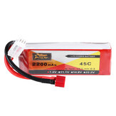 ZOP Power 7.4V 2200mAh 2S 45C Lipo Battery T Plug for RC Car