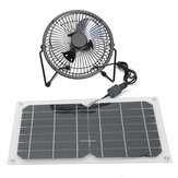 10W USB Solar Panel Powered Mini Fan Waterproof Portable Ventilation Hot Summer Cooling Fan