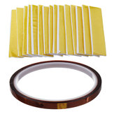 15Pcs Heating Insulation Cotton + 1Pcs High Temperature Polyimide Film Heat Resistant Tape for 3D Printer High Temperature Protect