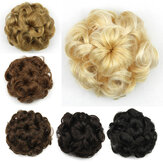 8 Colors Flower Bud Head Short Curly Hair Seven Flowers Drawstring Wig Piece